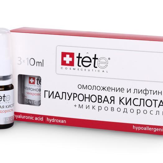 Гиалуроновая кислота + Микроводоросль / TETe Hyaluronic acid   Algae Extract 3*10 ml
