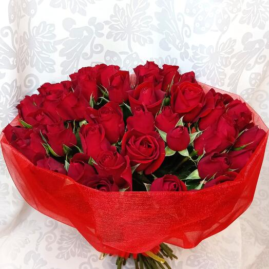 Букет из 51 красной розы (Кения)