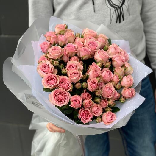 Букет из кустовой розы Pink Irishka M