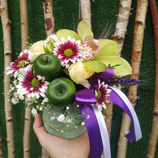 Цветы в коробке Дюймовочка