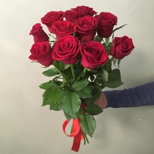 Букет из 11 красных роз 60 см: букеты цветов на заказ Flowwow