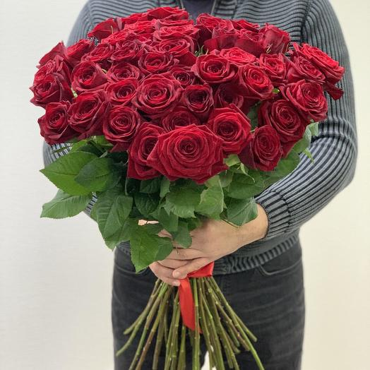 Букет из 45 красных роз 50 см: букеты цветов на заказ Flowwow
