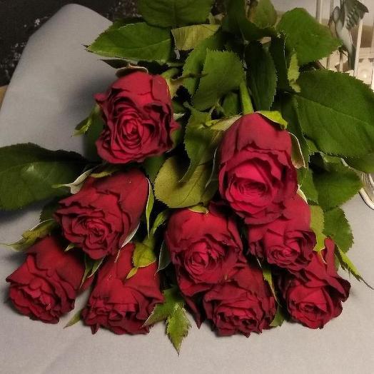 Букет из 9 красных кенийская роза: букеты цветов на заказ Flowwow