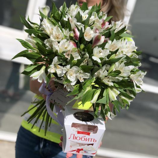 Букет из 21 белой альстромерии: букеты цветов на заказ Flowwow