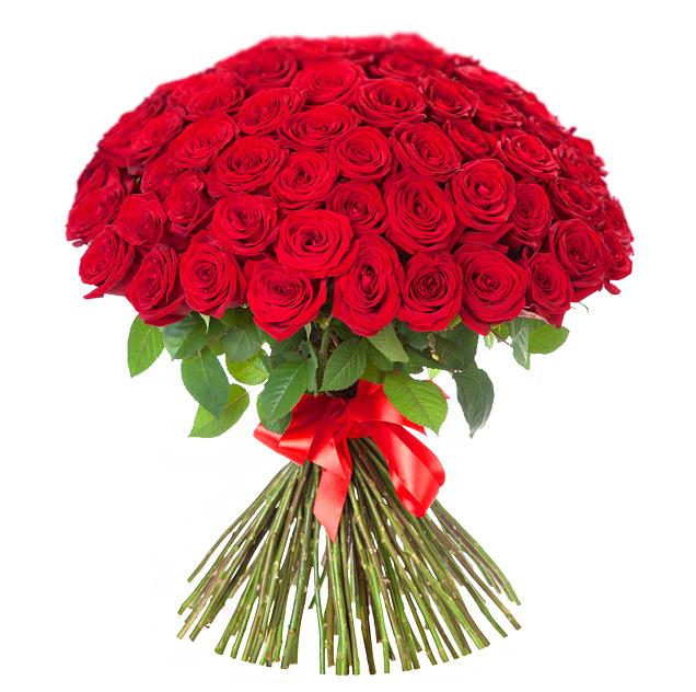 Букет из 101 красных роз 60 см: букеты цветов на заказ FlowWow