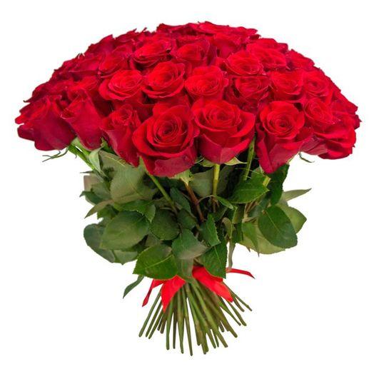 Букет из 31 красной местной розы 60 см: букеты цветов на заказ Flowwow