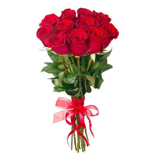 Букет из 10 красных голландских роз 70 см: букеты цветов на заказ Flowwow
