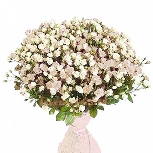 Букет из 151 белой кустовой розы 70 см: букеты цветов на заказ Flowwow