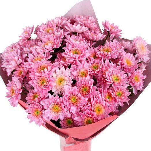 Букет из 25 красных хризантем: букеты цветов на заказ Flowwow