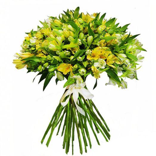 Букет из 25 желтых альстромерий: букеты цветов на заказ Flowwow