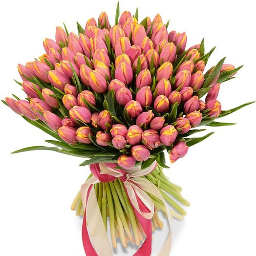 Букет из 375 розовых тюльпанов: букеты цветов на заказ Flowwow