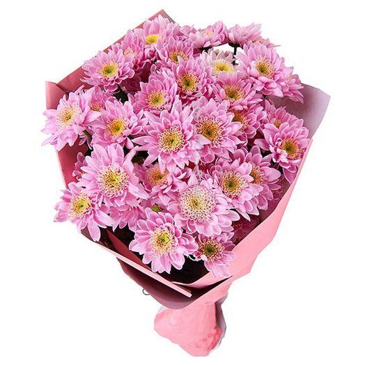 Букет из 21 розовой хризантемы одноголовой: букеты цветов на заказ Flowwow