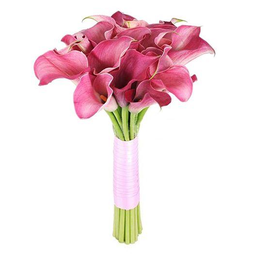 Букет из 11 розовых калл: букеты цветов на заказ Flowwow