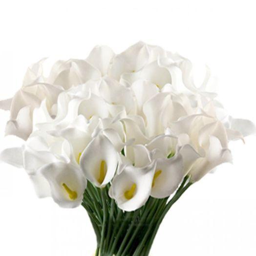 Букет из 101 белой каллы: букеты цветов на заказ Flowwow