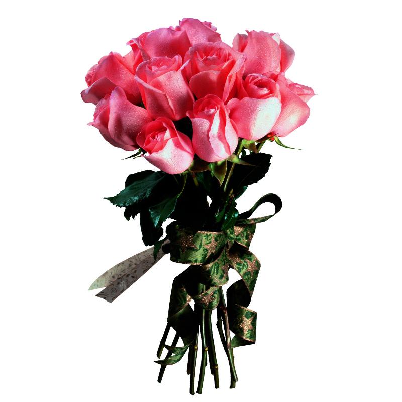 Букет из 15 розовых роз 70 см: букеты цветов на заказ Flowwow
