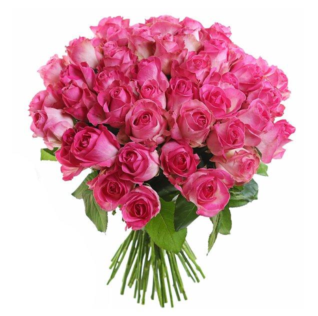Букет из 31 розовой местной розы 50 см: букеты цветов на заказ Flowwow