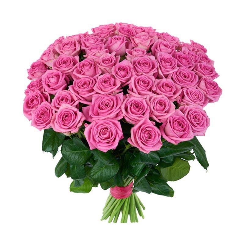 Букет из 51 розовой местной розы 80 см: букеты цветов на заказ Flowwow