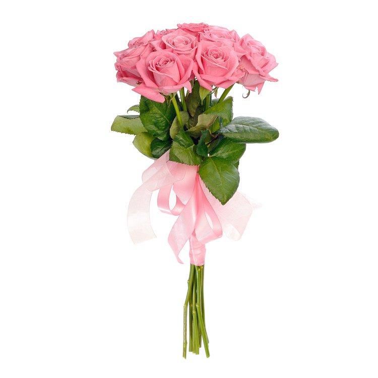 Букет из 9 розовых роз 60 см: букеты цветов на заказ Flowwow