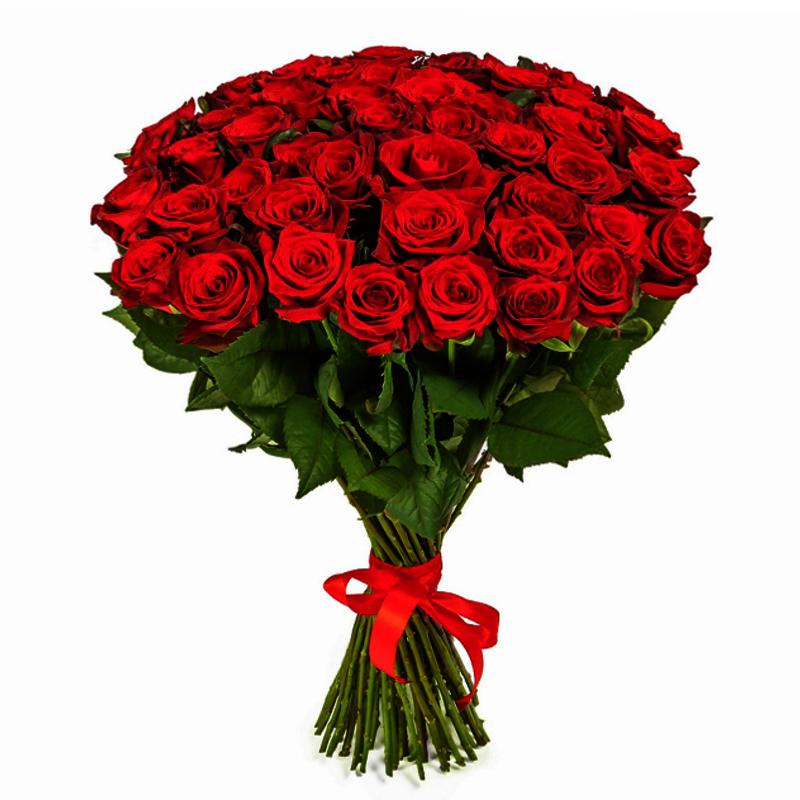 Букет из 45 красных роз 60 см: букеты цветов на заказ Flowwow