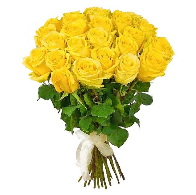 Букет из 31 желтой местной розы 50 см: букеты цветов на заказ Flowwow