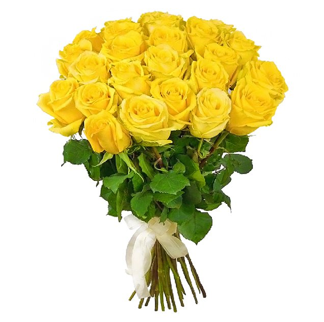 Букет из 35 желтых роз 70 см: букеты цветов на заказ Flowwow