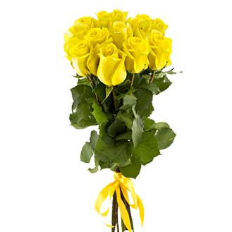 Букет из 7 желтых голландских роз 60 см: букеты цветов на заказ Flowwow