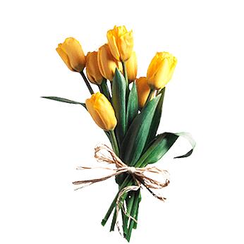 Букет из 7 желтых тюльпанов: букеты цветов на заказ Flowwow