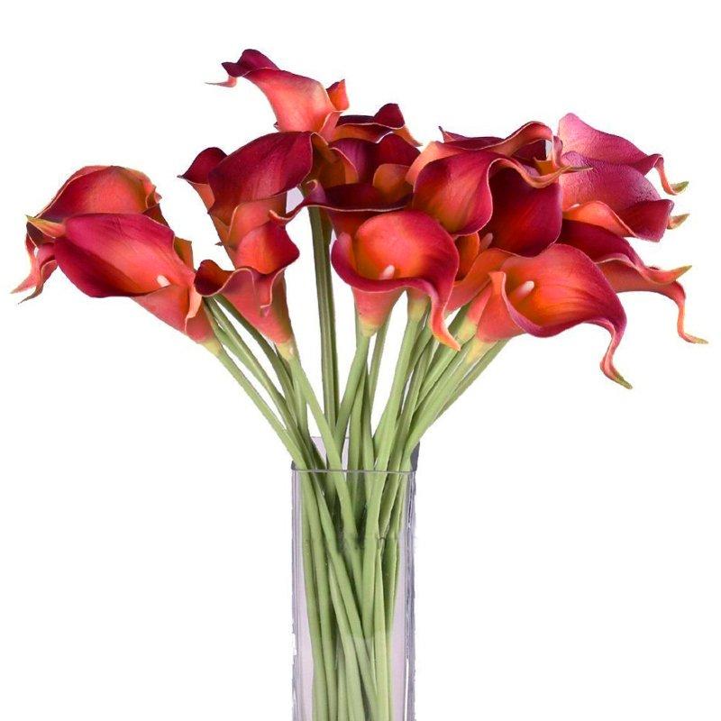 Букет из 15 красных калл: букеты цветов на заказ Flowwow